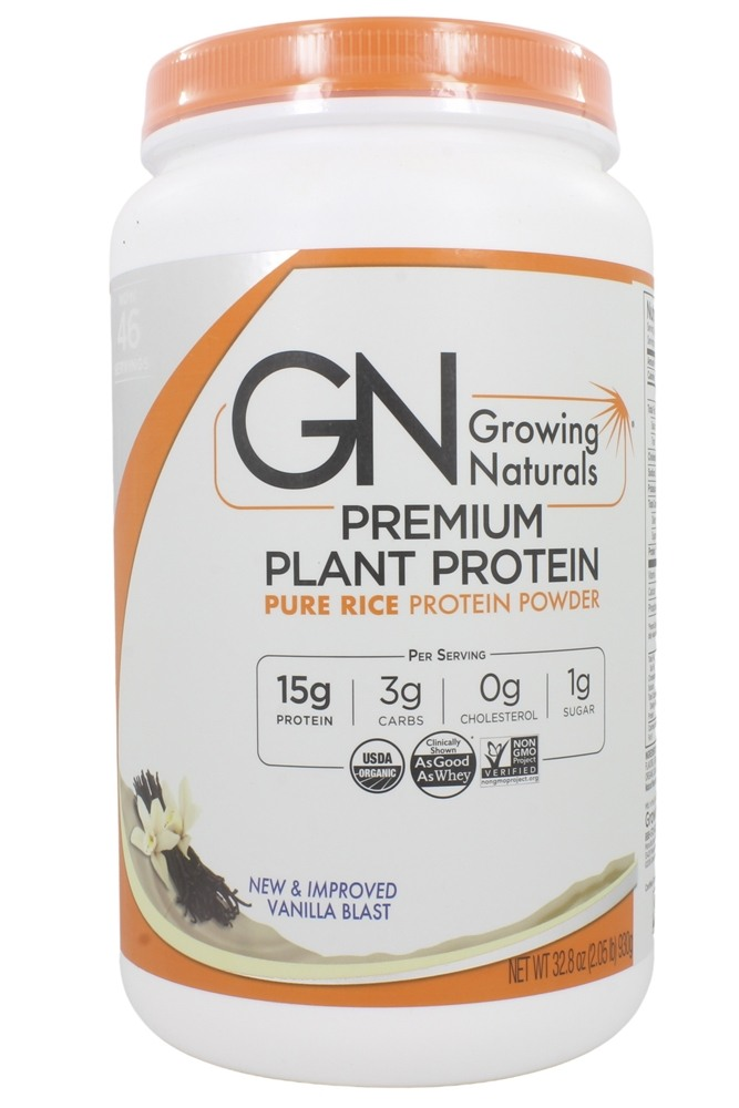 Growing Naturals - Organic Rice Protein Vanilla Blast - 32.8 oz.
