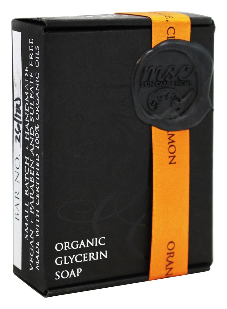 MSC Skin Care + Home - Artisan Organic Glycerin Soap Bar Orange, Clove, & Cinnamon - 5.7 oz.