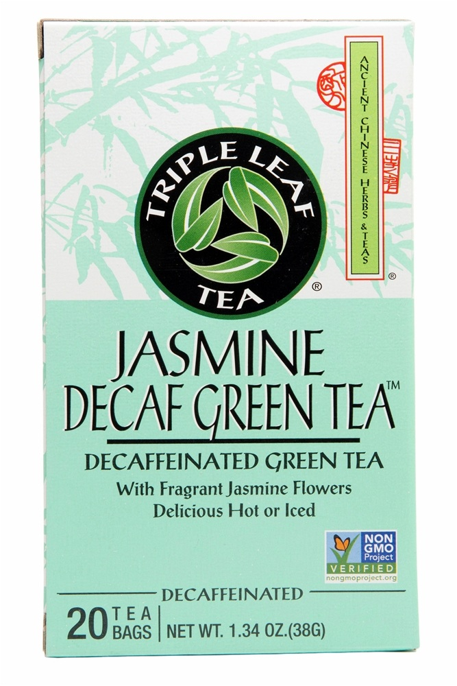 Triple Leaf Tea - Decaf Jasmine Green Tea - 20 Tea Bags