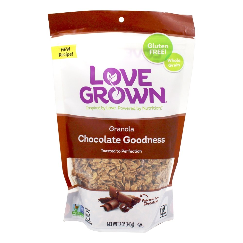 Love Grown Foods - Oat Clusters Toasted Granola Cocoa Goodness - 12 oz.
