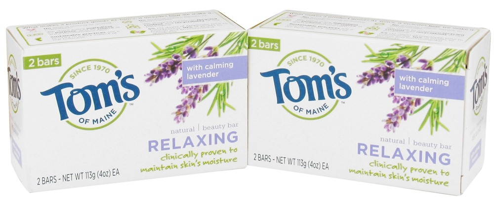 Tom's of Maine - Natural Beauty Bar Relaxing - 2 Bars x 4 oz.
