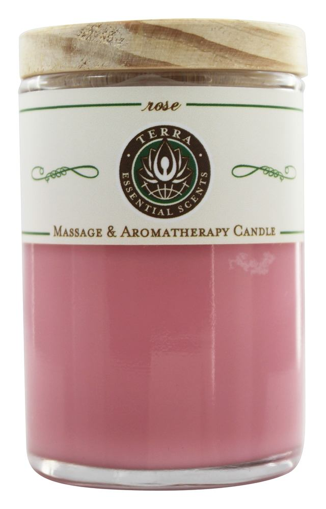 Terra Essential Scents - Massage & Aromatherapy Soy Candle Rose - 2.5 oz.