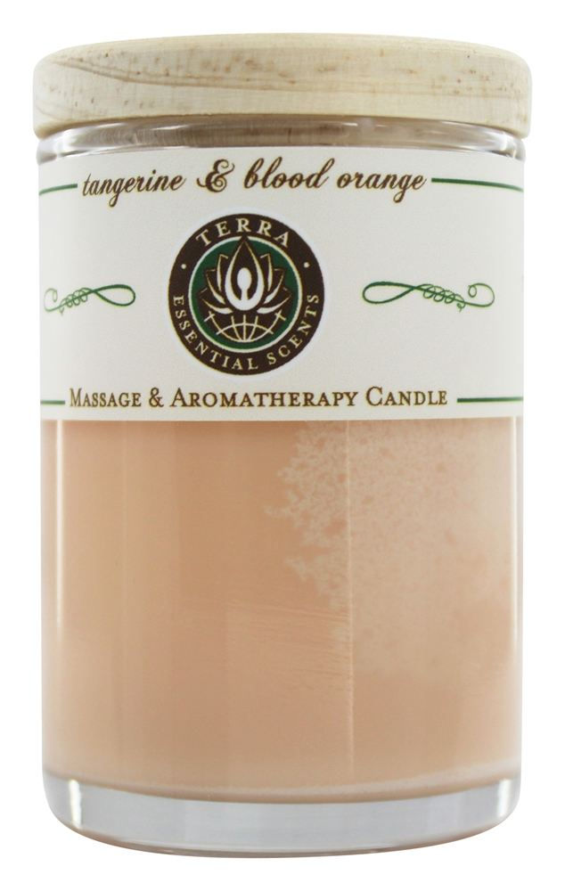Terra Essential Scents - Massage & Aromatherapy Soy Candle Tangerine & Blood Orange - 2.5 oz.