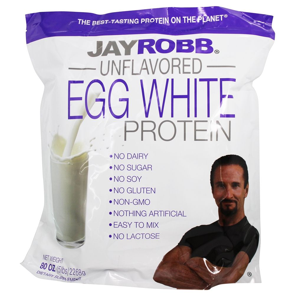 Jay Robb - Egg White Protein Powder Unflavored - 80 oz.