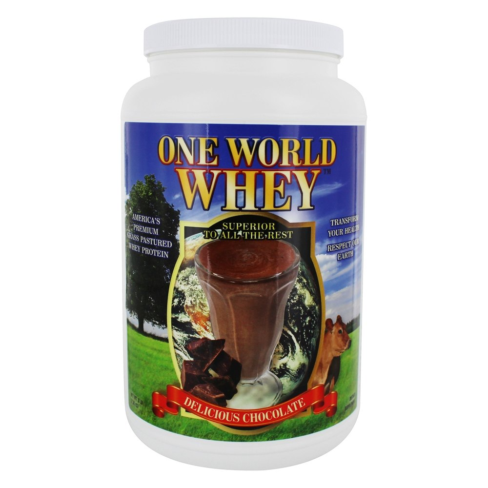 One World Whey - Protein Power Food Nature's Chocolate - 5 lbs.