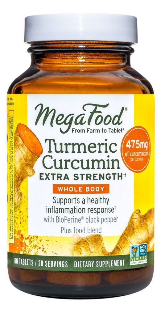 MegaFood - Turmeric Strength for Whole Body - 60 Tablets Formerly Extinguish