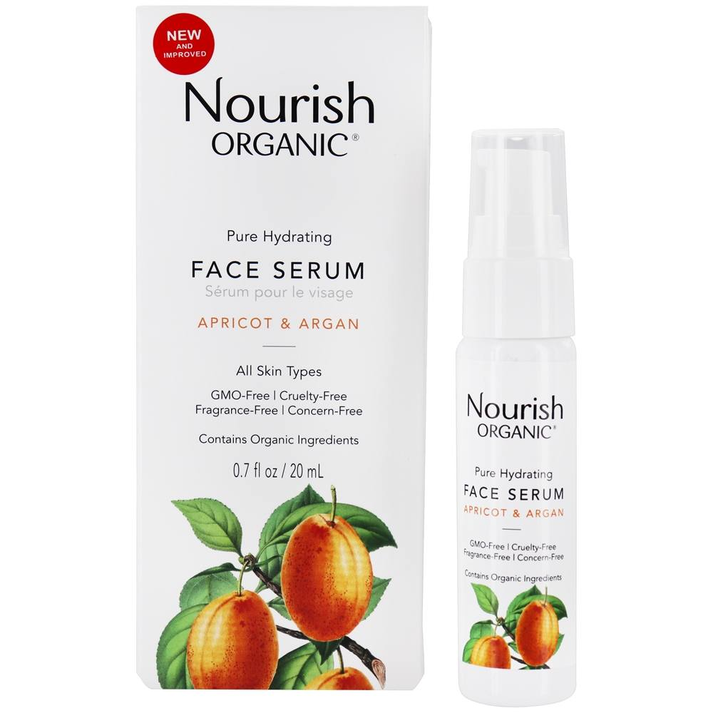 Nourish - Organic Pure Hydrating Argan Face Serum Apricot + Rosehip - 0.7 oz.