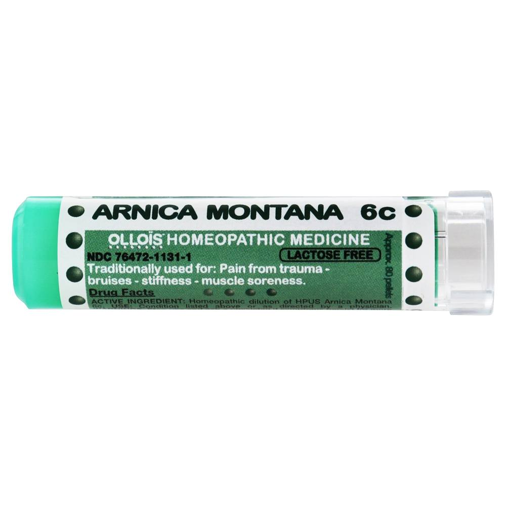 Ollois Homeopathic Medicine - Arnica Montana 6 C - 80 Pellets