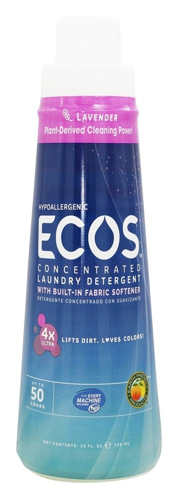 Earth Friendly - ECOS 4X Opti-Strength Concentrated Laundry Detergent Lavender - 25 oz.