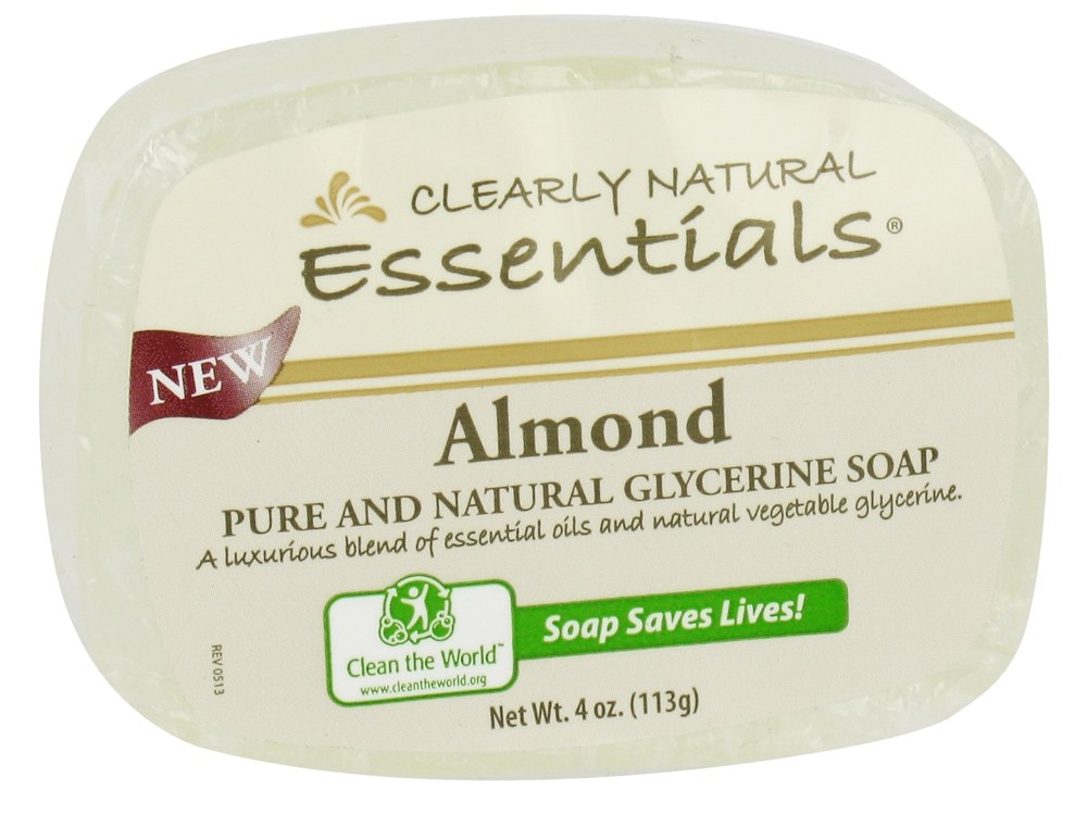 Clearly Natural - Glycerine Soap Bar Almond - 4 oz.