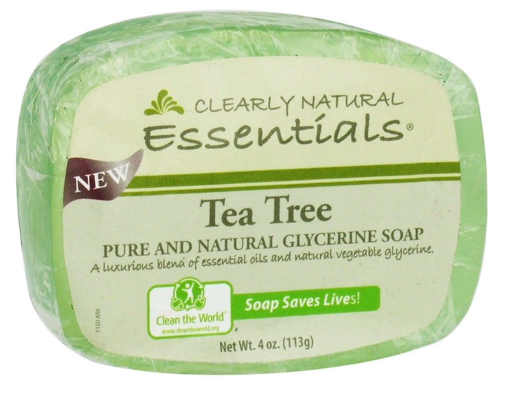 Clearly Natural - Glycerine Soap Bar Tea Tree - 4 oz.