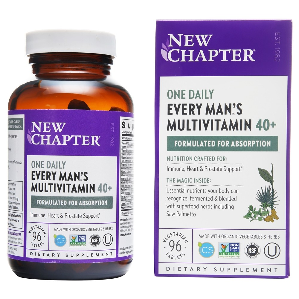 New Chapter - Every Man's One Daily 40+ - 96 Tablets