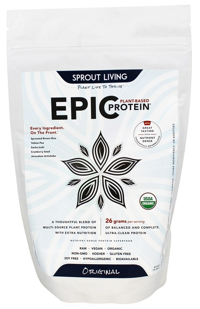 Sprout Living - Epic Plant-Based Protein Original - 16 oz.