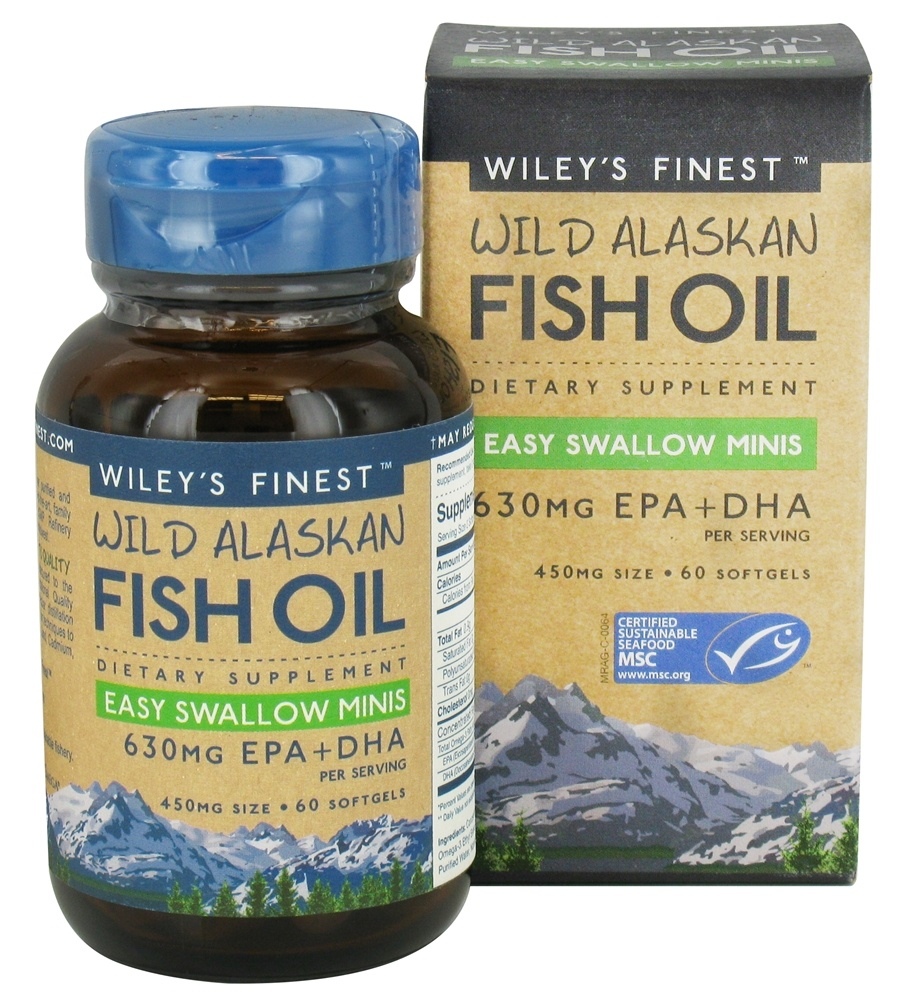Wiley's Finest - Wild Alaskan Fish Oil 630mg EPA + DHA Easy Swallow Minis - 60 Softgels