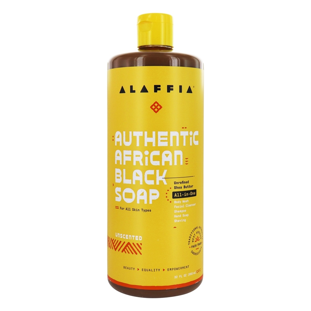 Alaffia - Authentic African Black Soap Unscented - 32 oz.