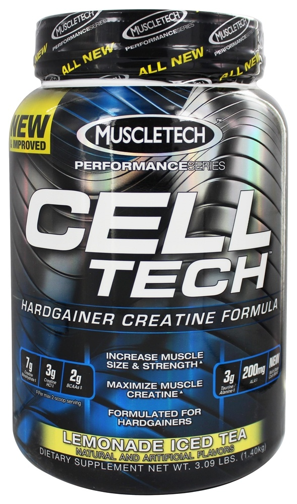 Muscletech Products - Cell Tech Performance Series Hardgainer Creatine Formula Lemonade Iced Tea - 3.09 lbs.