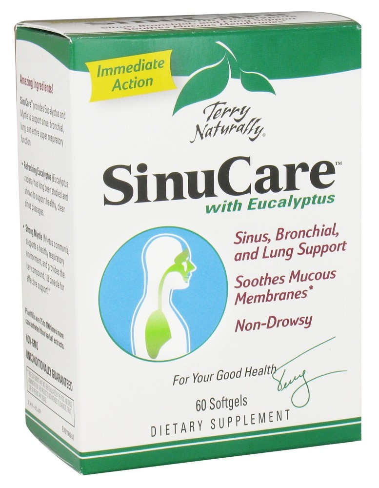 EuroPharma - Terry Naturally SinuCare - 60 Softgels