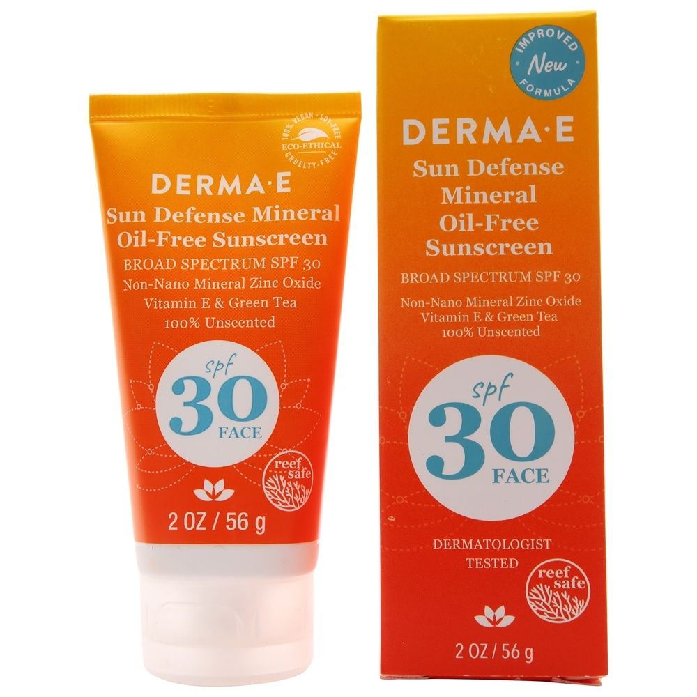 Derma-E - Antioxidant Natural Sunscreen Oil-Free Face Lotion 30 SPF - 2 oz.