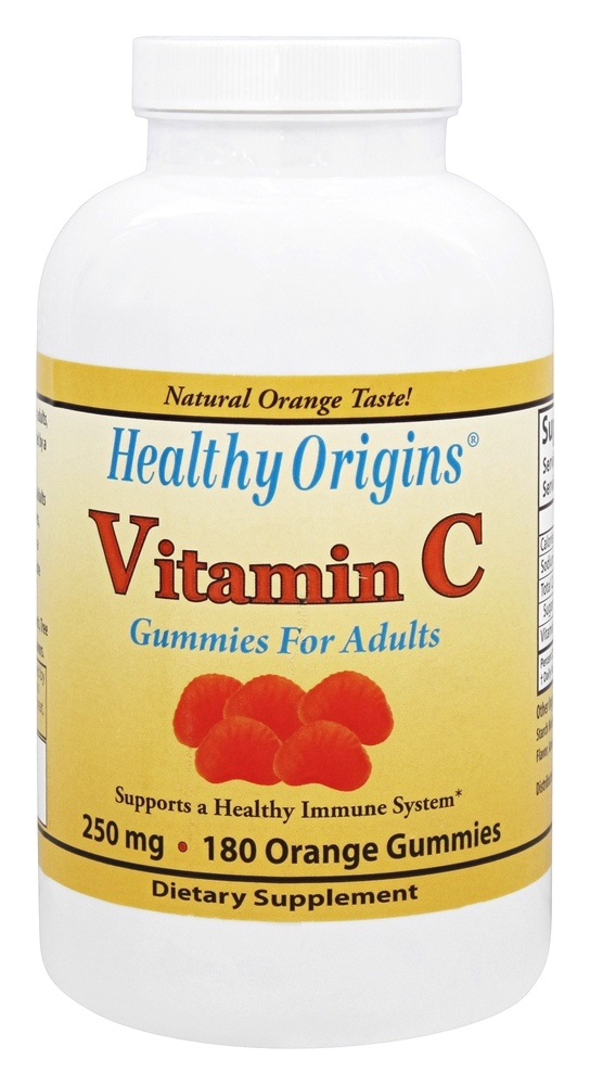 Healthy Origins - Vitamin C Gummies For Adults Orange 250 mg. - 180 Gummies