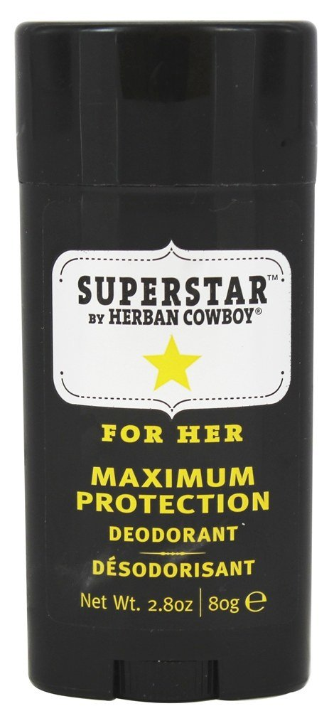 Herban Cowboy - Deodorant Maximum Protection For Her Superstar - 2.8 oz.