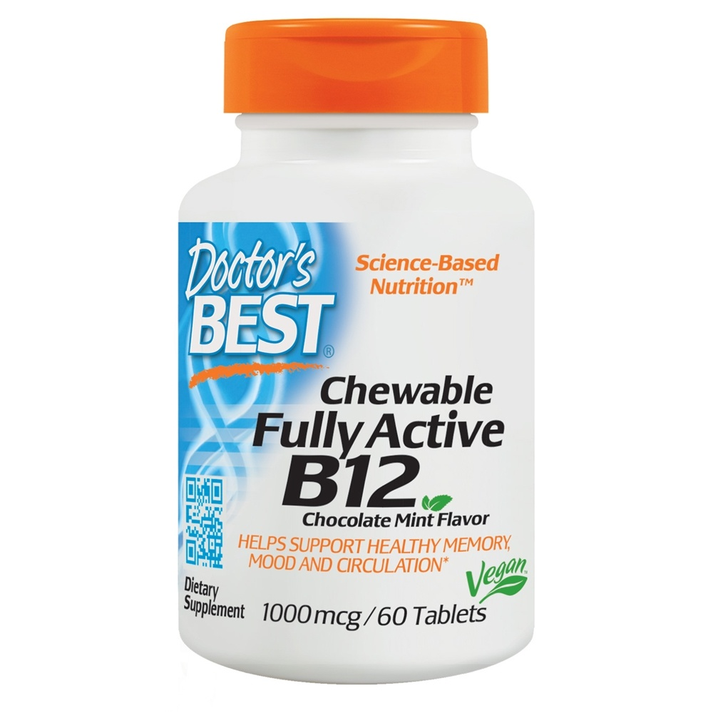 Doctor's Best - Quick Melt Fully Active B12 1000 mcg. - 60 Tablets