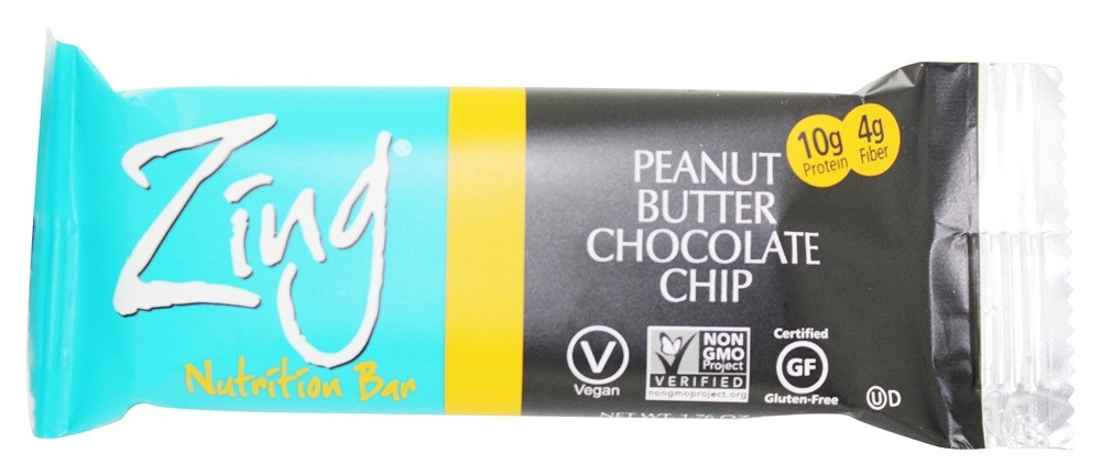Zing Bars - Nutrition Bar Peanut Butter Chocolate Chip - 1.76 oz.