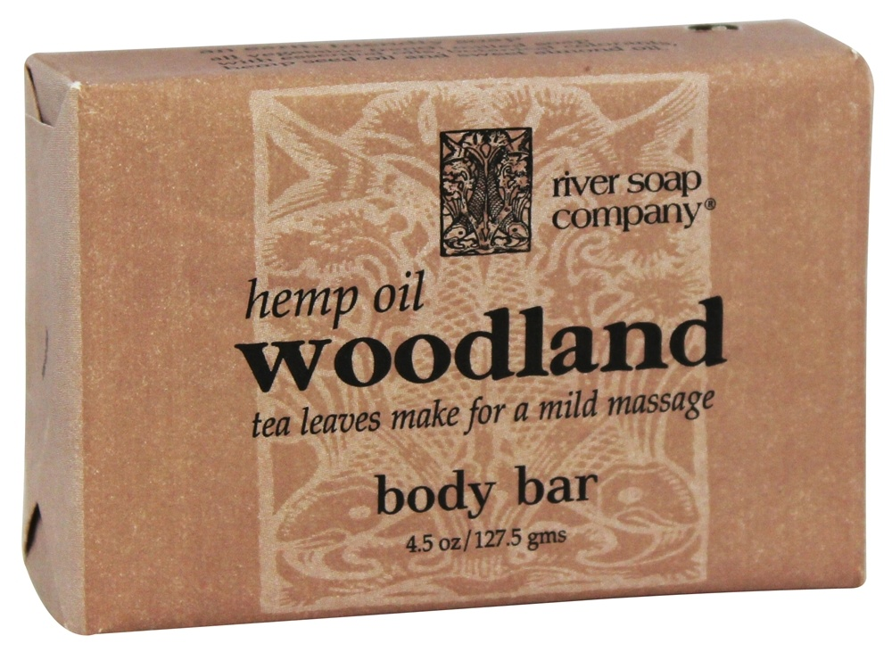 River Soap Company - Bar Soap Woodland with Hemp Seed Oil - 4.5 oz.