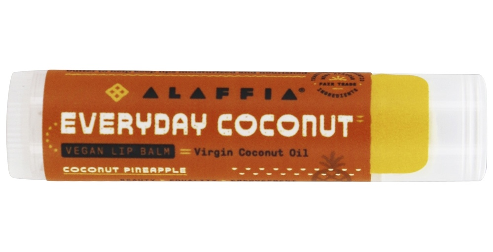 Alaffia - Everyday Coconut Fair Trade Lip Balm Coconut Pineapple - 0.15 oz.