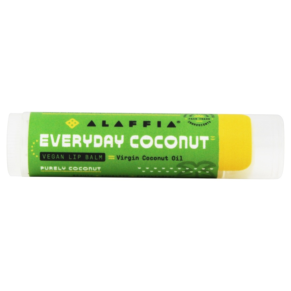 Alaffia - Everyday Coconut Fair Trade Lip Balm Purely Coconut - 0.15 oz.