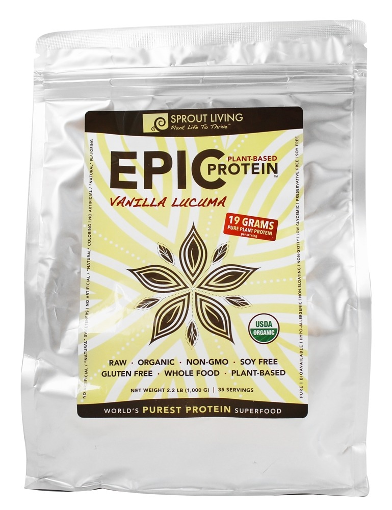 Sprout Living - Epic Plant-Based Protein Vanilla Lucuma - 2.2 lbs.