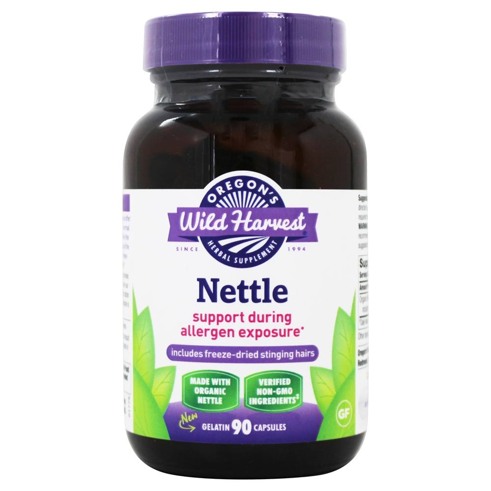 Oregon's Wild Harvest - Freeze-Dried Nettle - 90 Vegetarian Capsules