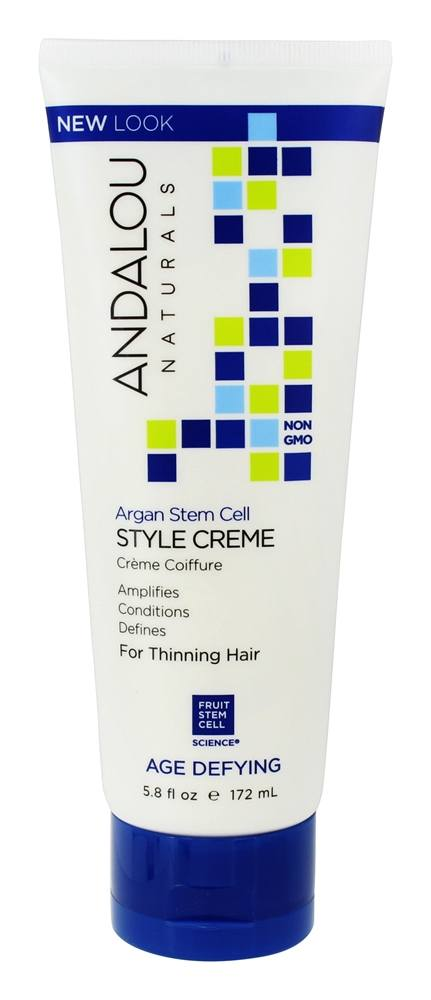 Andalou Naturals - Age Defying Thinning Hair Treatment Styling Creme - 6 oz.