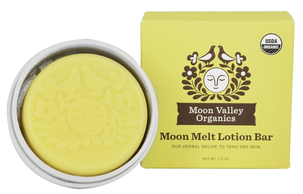 Moon Valley Organics - Moon Melt Lotion Bar Vanilla Lemon - 1.9 oz.