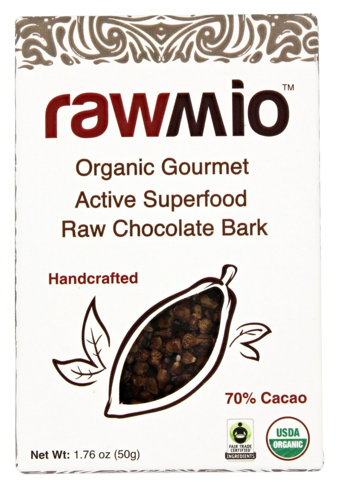 Rawmio - Organic Gourmet Raw Chocolate Bark Active Superfood - 1.76 oz.