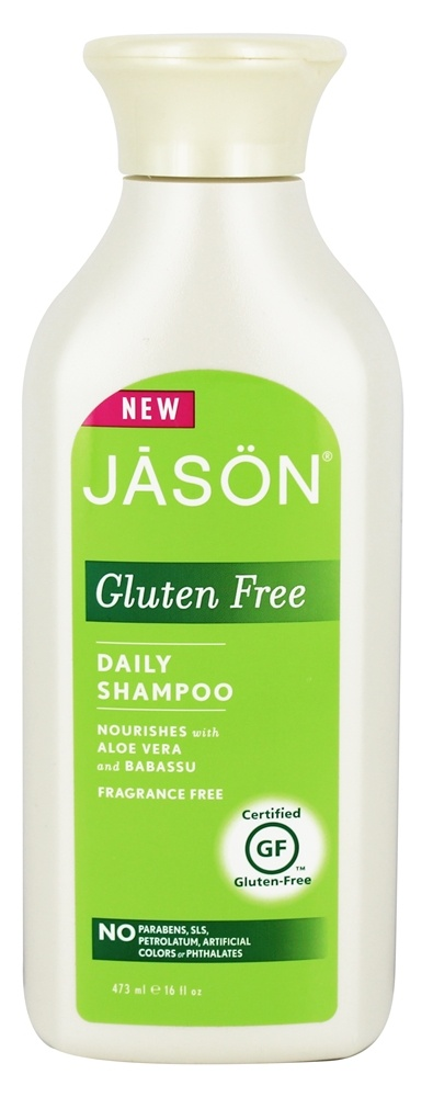 JASON Natural Products - Gluten Free Daily Shampoo Fragrance Free - 16 oz.