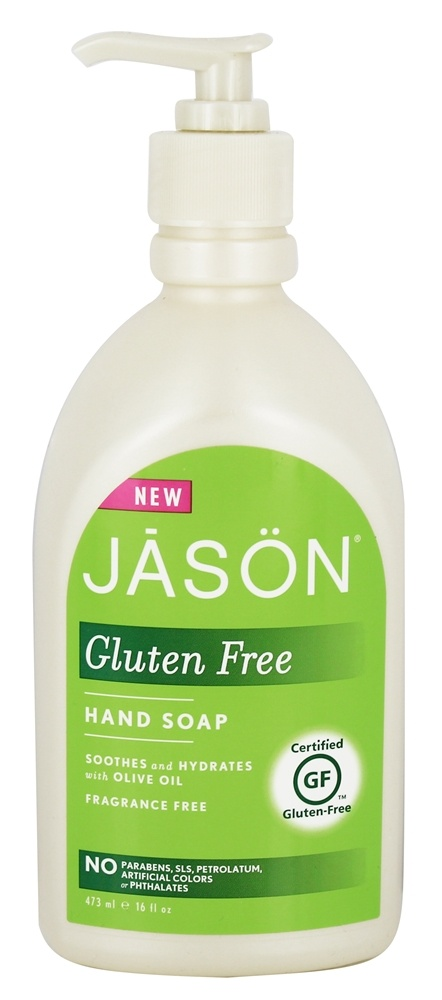 JASON Natural Products - Gluten Free Hand Soap Fragrance Free - 16 oz.