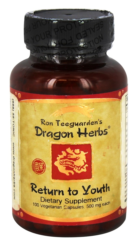 Dragon Herbs - Return to Youth 500 mg. - 100 Vegetarian Capsules