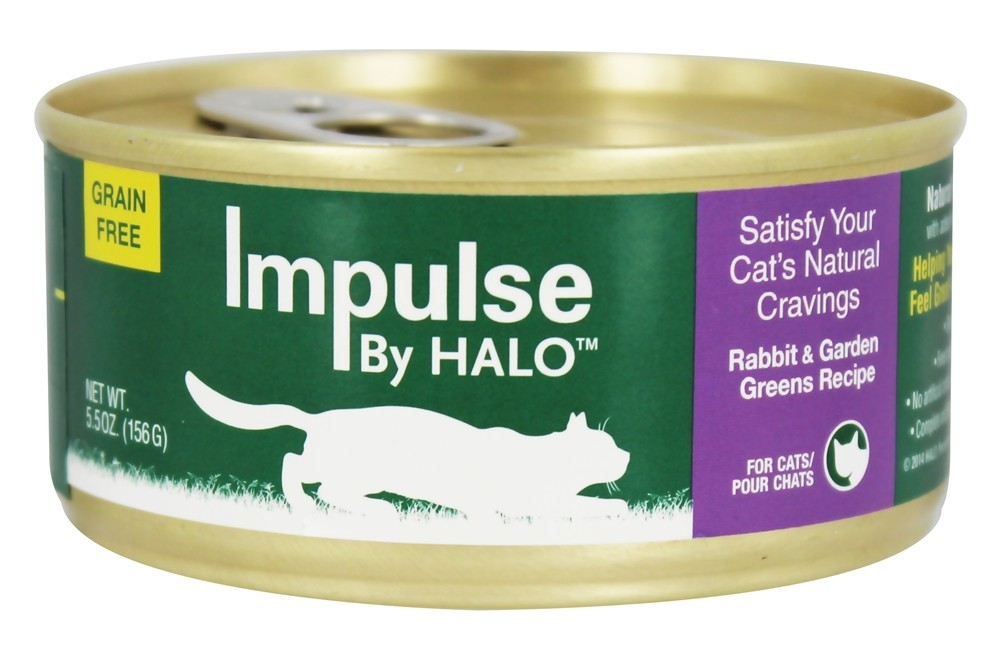 Halo Purely for Pets - Impulse Canned Cat Food Rabbit & Garden Greens Recipe - 5.5 oz.