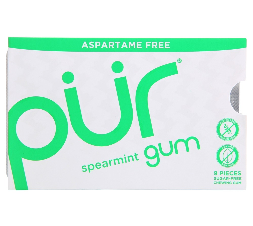 Pur Gum - Sugar Free Chewing Gum Spearmint - 9 Piece(s)