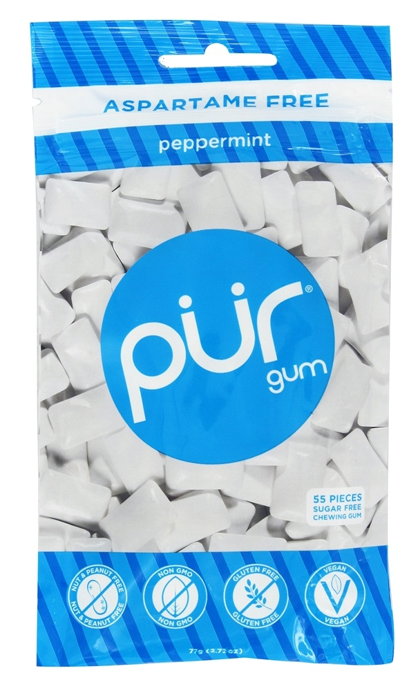 Pur Gum - Sugar Free Chewing Gum Peppermint - 57 Piece(s)