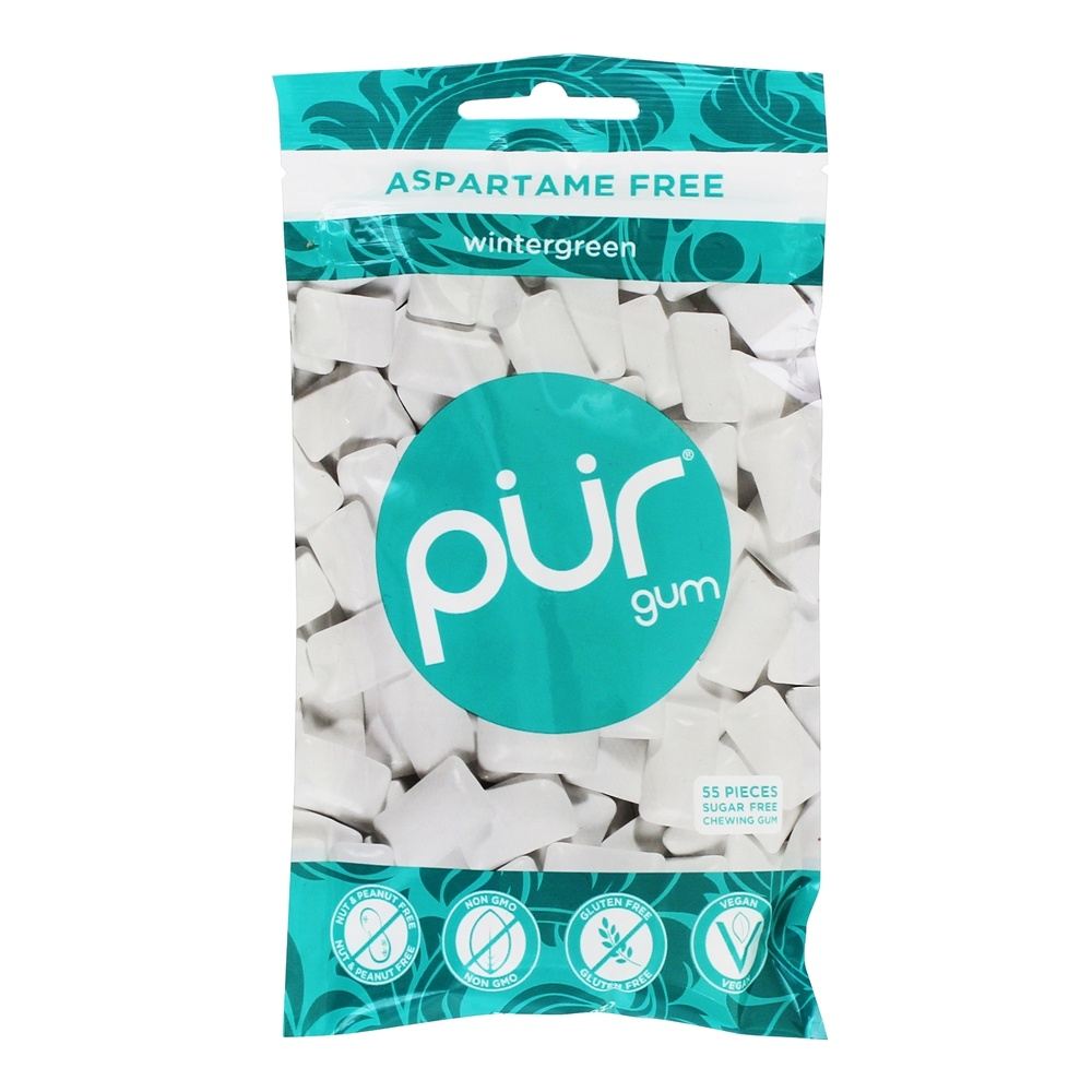 Pur Gum - Sugar Free Chewing Gum Wintergreen - 57 Piece(s)