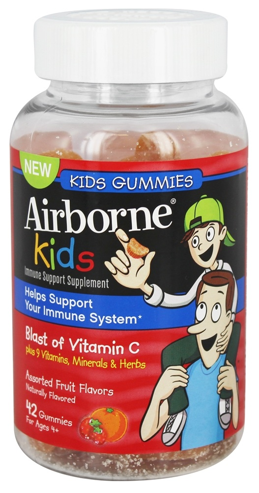 Airborne - Immune Support Gummies for Kids Assorted Fruit Flavors - 42 Count