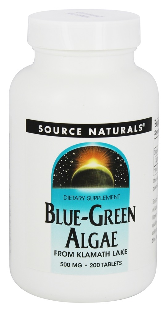 Source Naturals - Blue-Green Algae 500 mg. - 200 Tablets