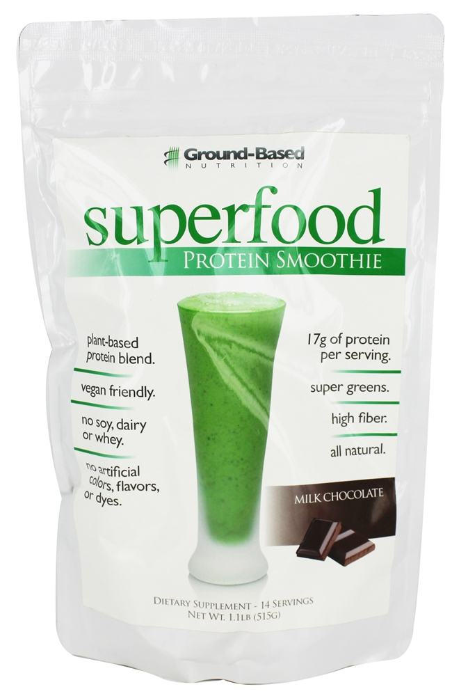 Ground-Based Nutrition - Superfood Protein Smoothie Milk Chocolate - 1 lb.