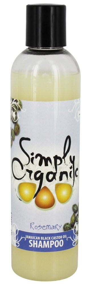 Simply Organic Oils - Jamaican Black Castor Oil Shampoo Rosemary - 8 oz.