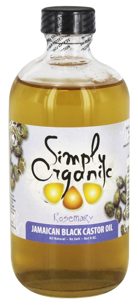 Simply Organic Oils - Jamaican Black Castor Oil Rosemary - 8 oz.