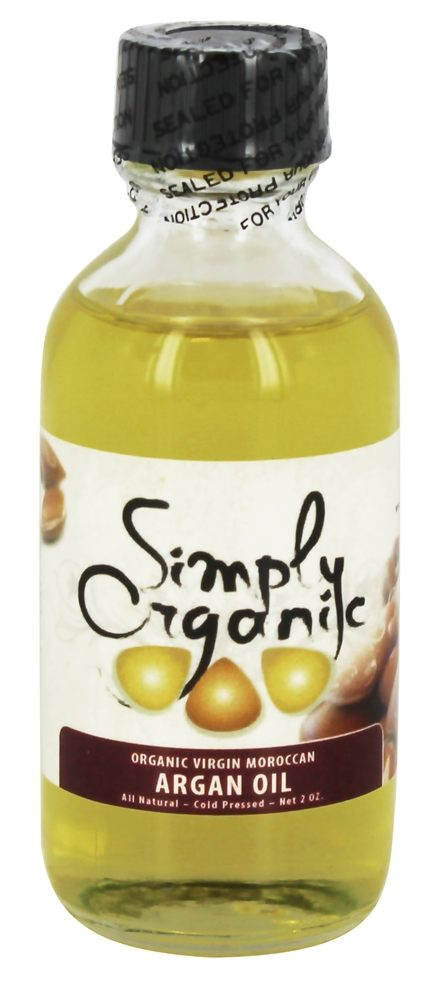 Simply Organic Oils - Organic Virgin Moroccan Argan Oil - 2 oz.