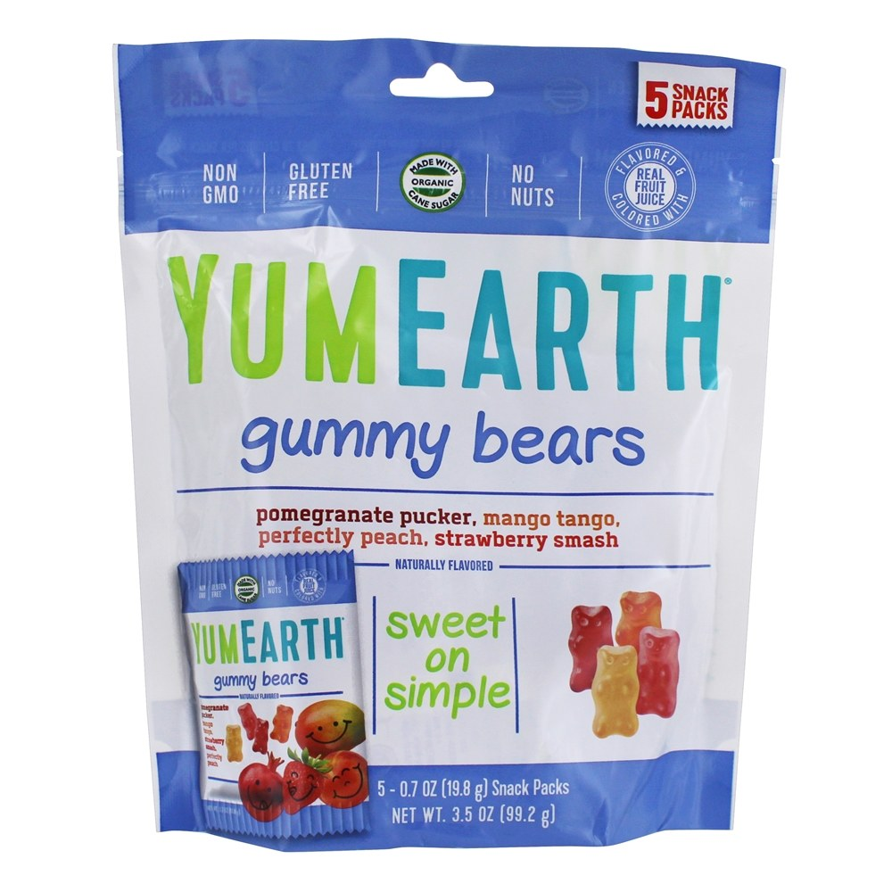 Yum Earth - Organic Gluten Free Gummy Bears - 5 Pack(s)