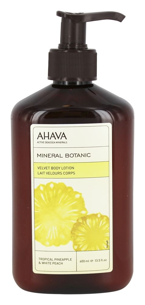 AHAVA - Mineral Botanic Velvet Body Lotion Tropical Pineapple & White Peach - 13.5 oz.