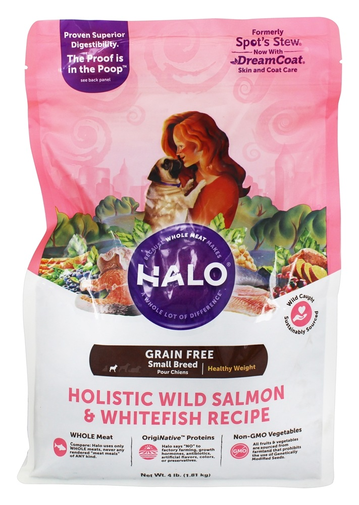 Halo Purely for Pets - Spot's Stew Grain-Free Healthy Weight Toy/Small Breed Dog Formula - 4 lb.